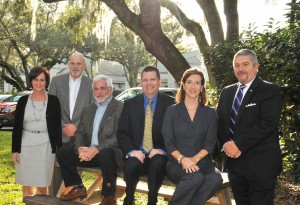 Members of the Brevard Political Action Committee. Left to right, Kimberly Meehan Agee, I. Wayne Cooper, Larry McIntyre, Travis Proctor, Kathryn Rudloff, and Frank Kaiser. They were meeting at the offices of Whitaker Cooper Financial Group, in Melbourne.